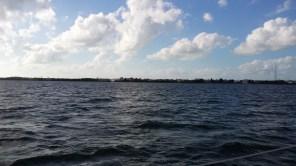A few hours later, approaching Key Largo.