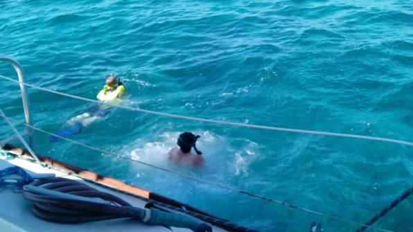 Snorkeling at Molasses Reef.