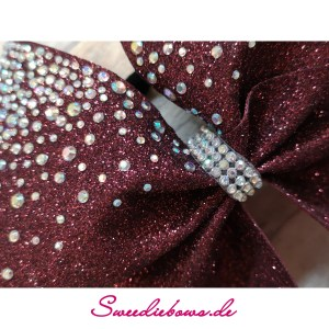 Cheerbow Strass No.15 Close up burgundy