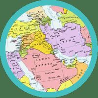 Map of indica origin