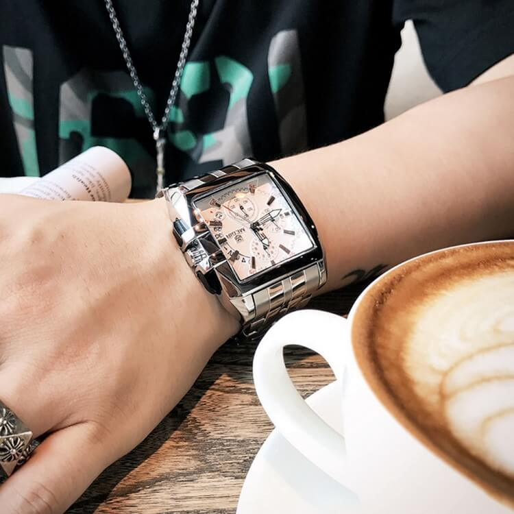 Stainless Steel Chronograph Watch 1