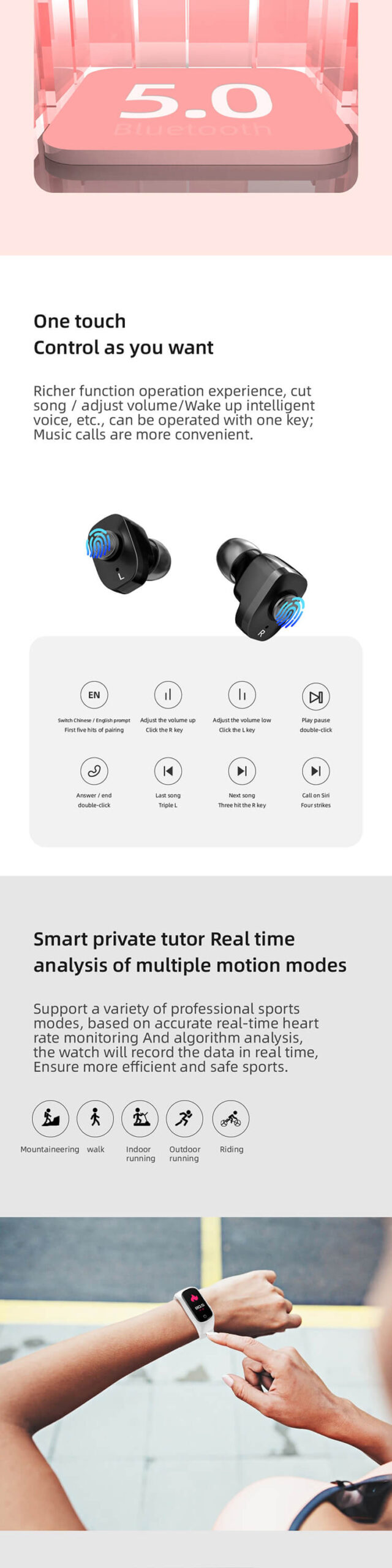 Smartwatch With Built In Earbuds 3