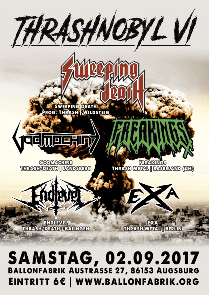 Sweeping Death - Flyer - Thrashnobyl - Augsburg