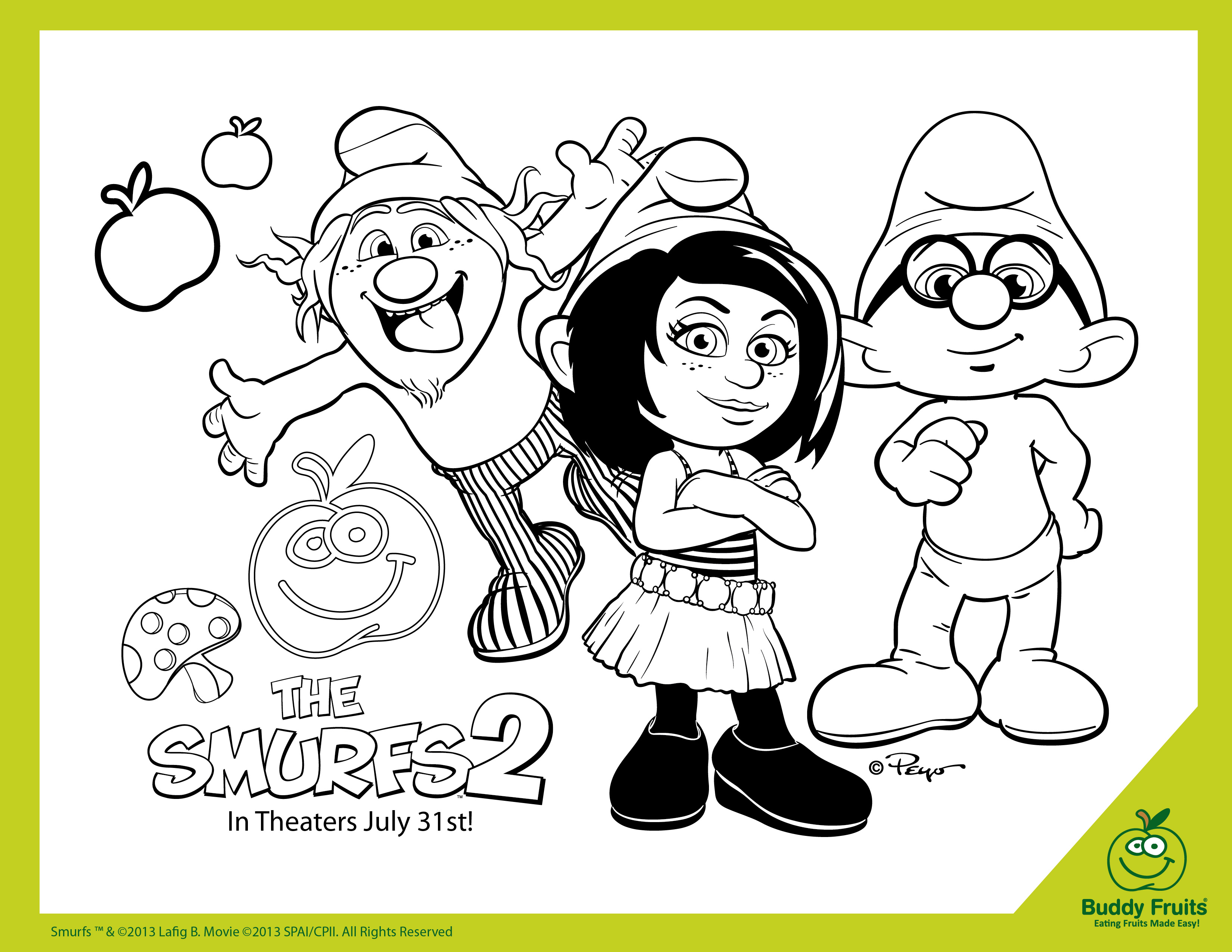 free the smurfs 2 printable coloring page mama likes this
