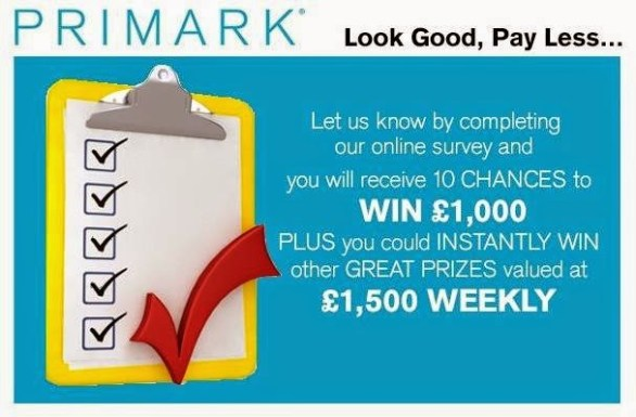 Tell Penneys Primark in Survey Sweepstakes