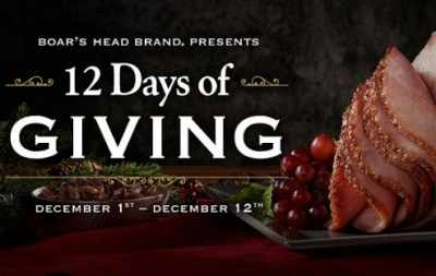 Boar's Head 12 Days of Giving Sweepstakes