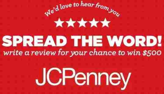 Jcpenney Ratings and Reviews Sweepstakes