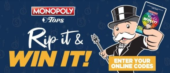 Tops Monopoly 2021 Game