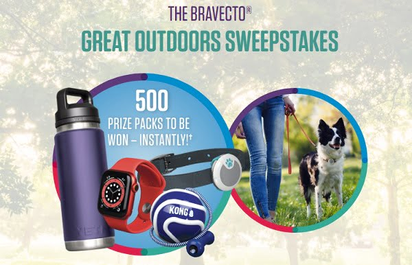 Bravecto Let's Play Great Outdoors Instant Win Game (500 Winners)