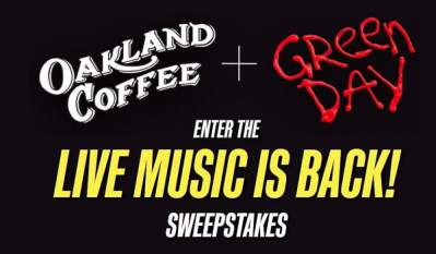 Oakland Coffee Green Day Live Music Sweepstakes