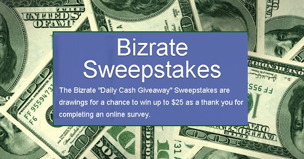 Bizrate Daily Cash Giveaway
