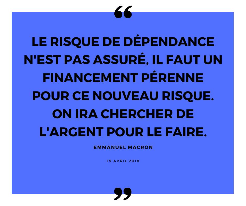 Emmanuel Macron à propos du risque dépendance