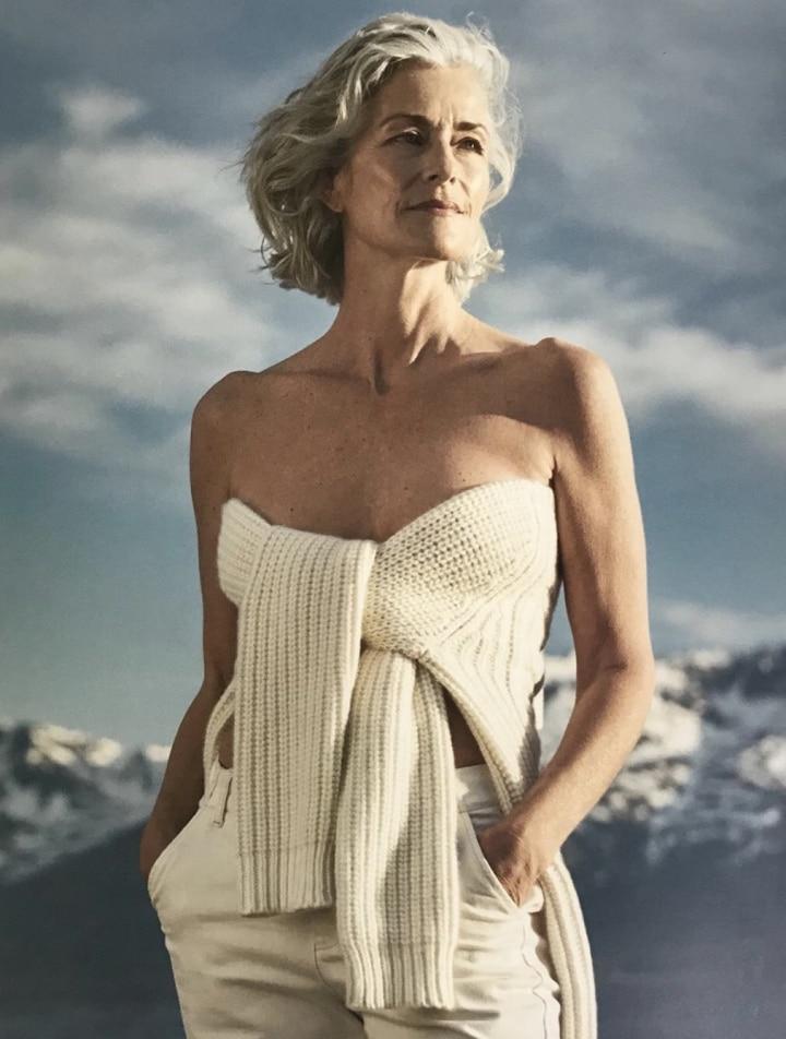 Le mannequin senior de la campagne eric bompard 2018-2019