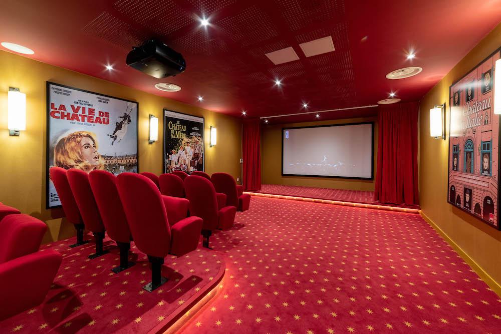 salle de cinéma Villa beausoleil chateau de meudon