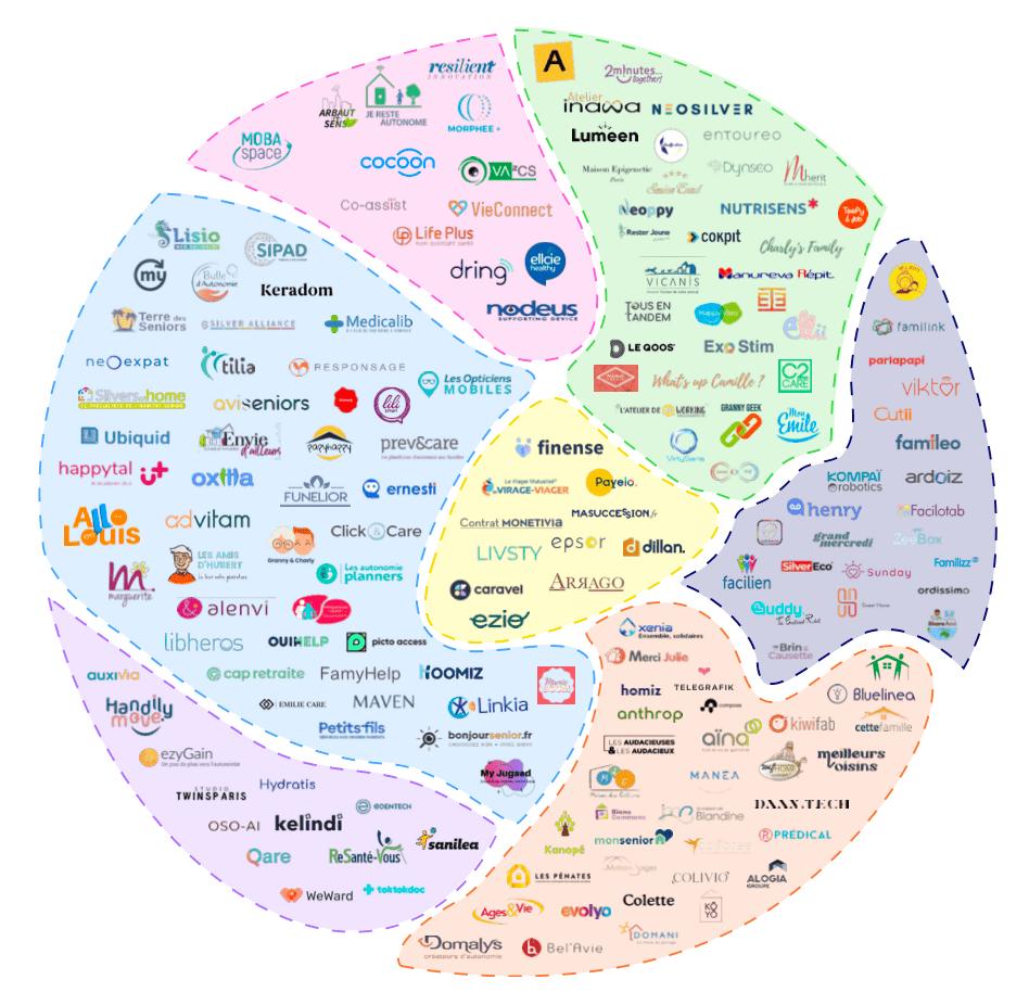 Cartographie des agetech françaises