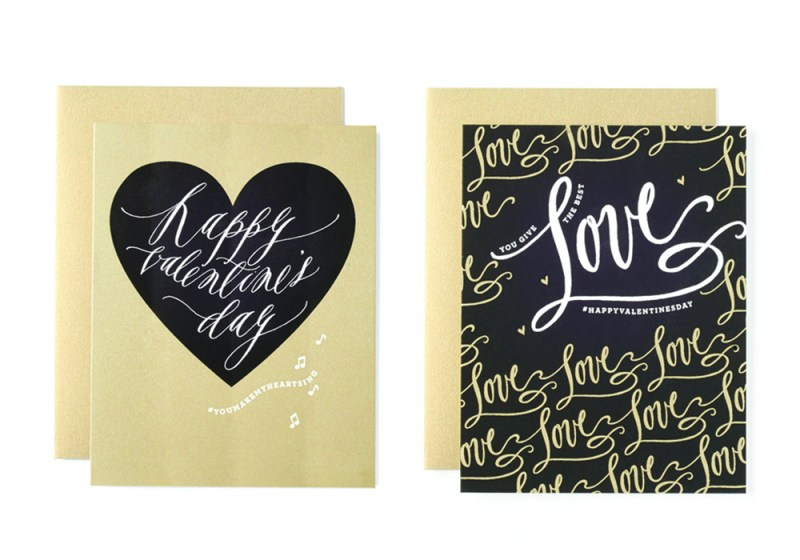 Happy Valentine's Day Card and You Give The Best Love Card by Fig 2. Design