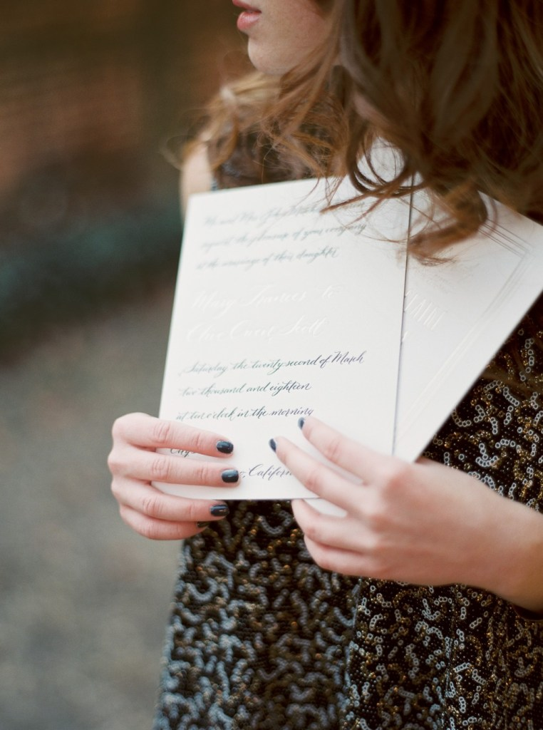 Custom Calligraphy Wedding Invitations by Nicole Black