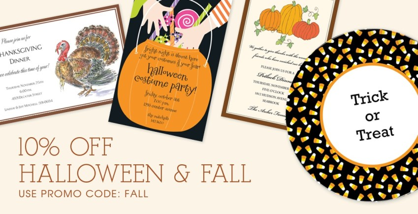 Sale! Halloween and Fall Gifts and Invitations
