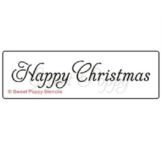 Sweet Poppy Stencil: Happy Christmas