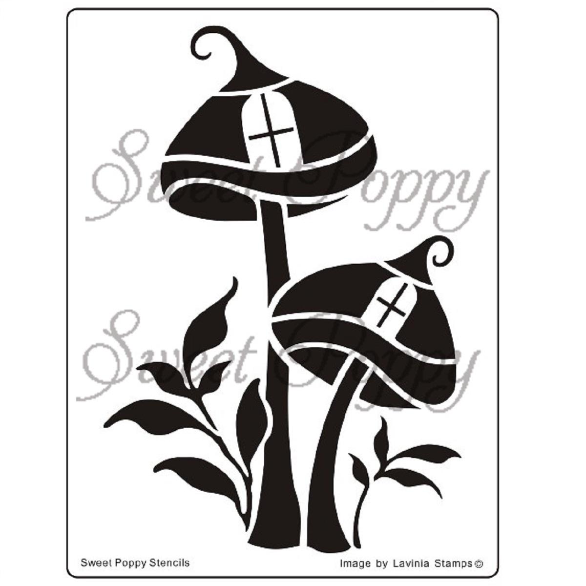 Sweet Poppy Stencil: Mushroom Dwelling