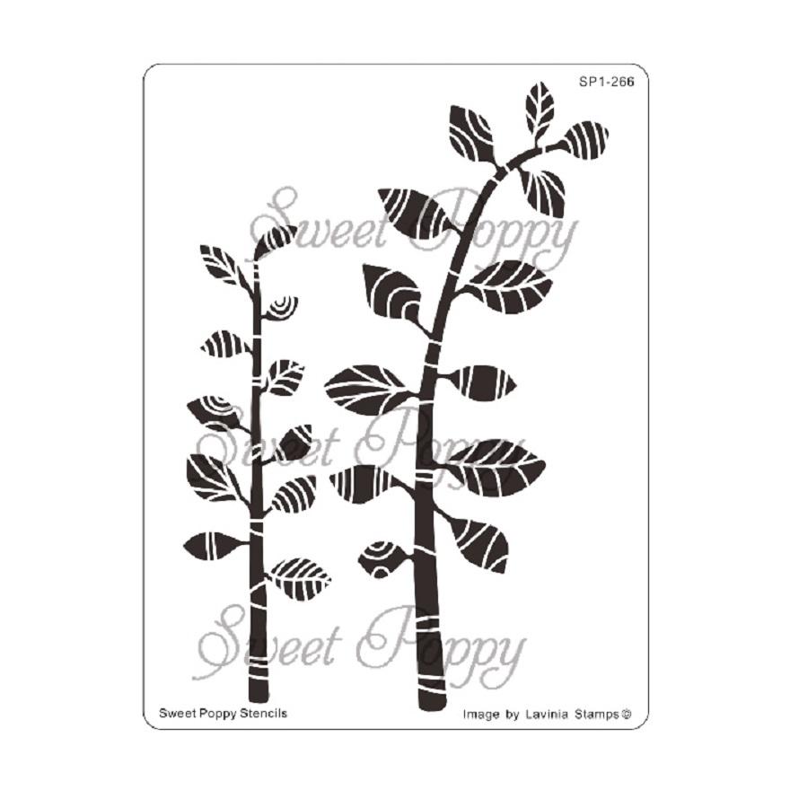 Sweet Poppy Stencil: Zen Leaves