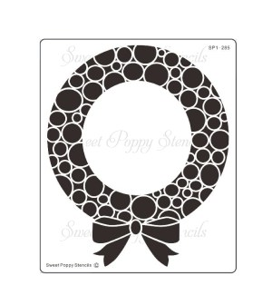 Sweet Poppy Stencil: Bubble Wreath