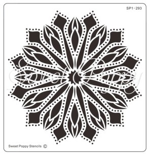 Sweet Poppy Stencil: Floral Spots