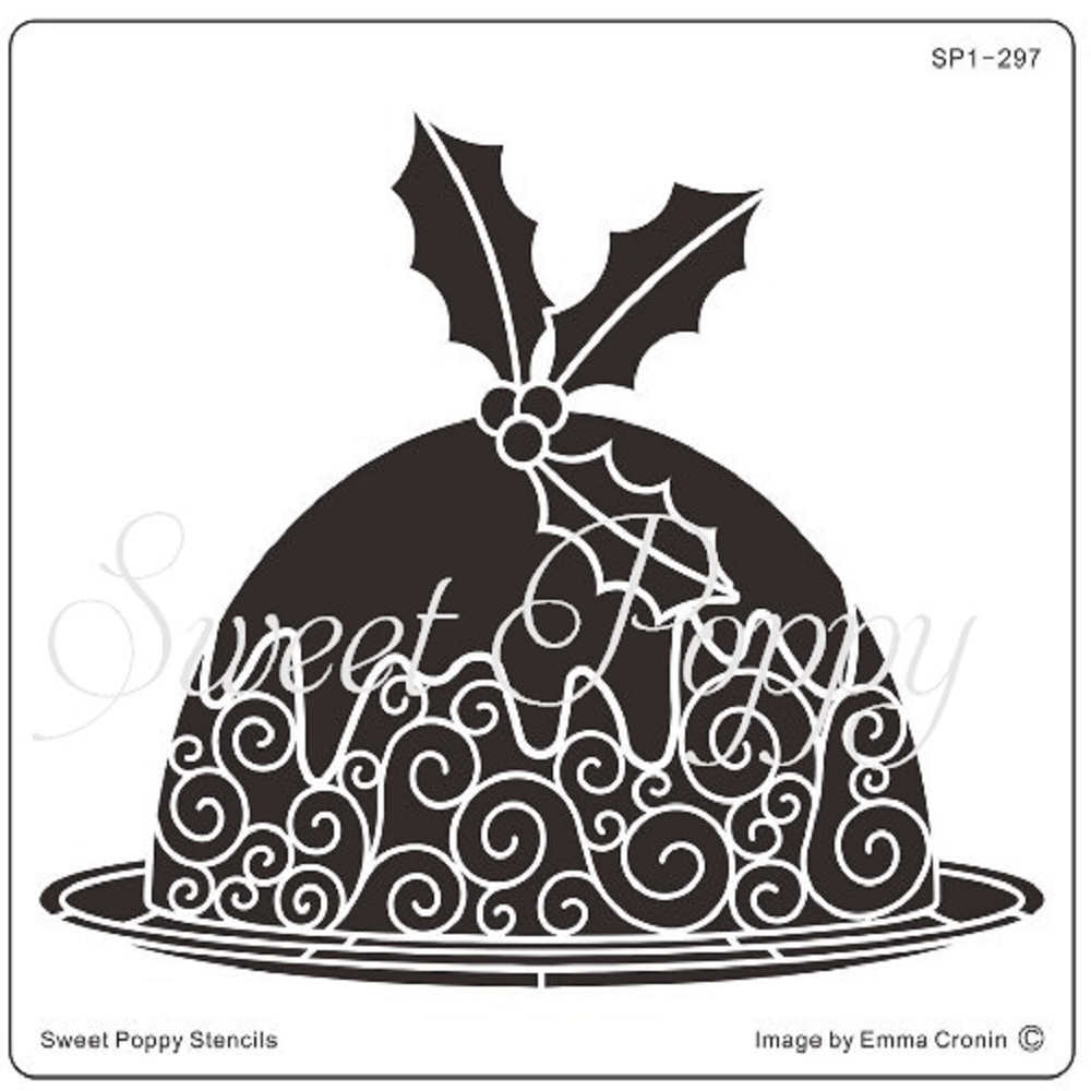 Sweet Poppy Stencil: Christmas Pudding