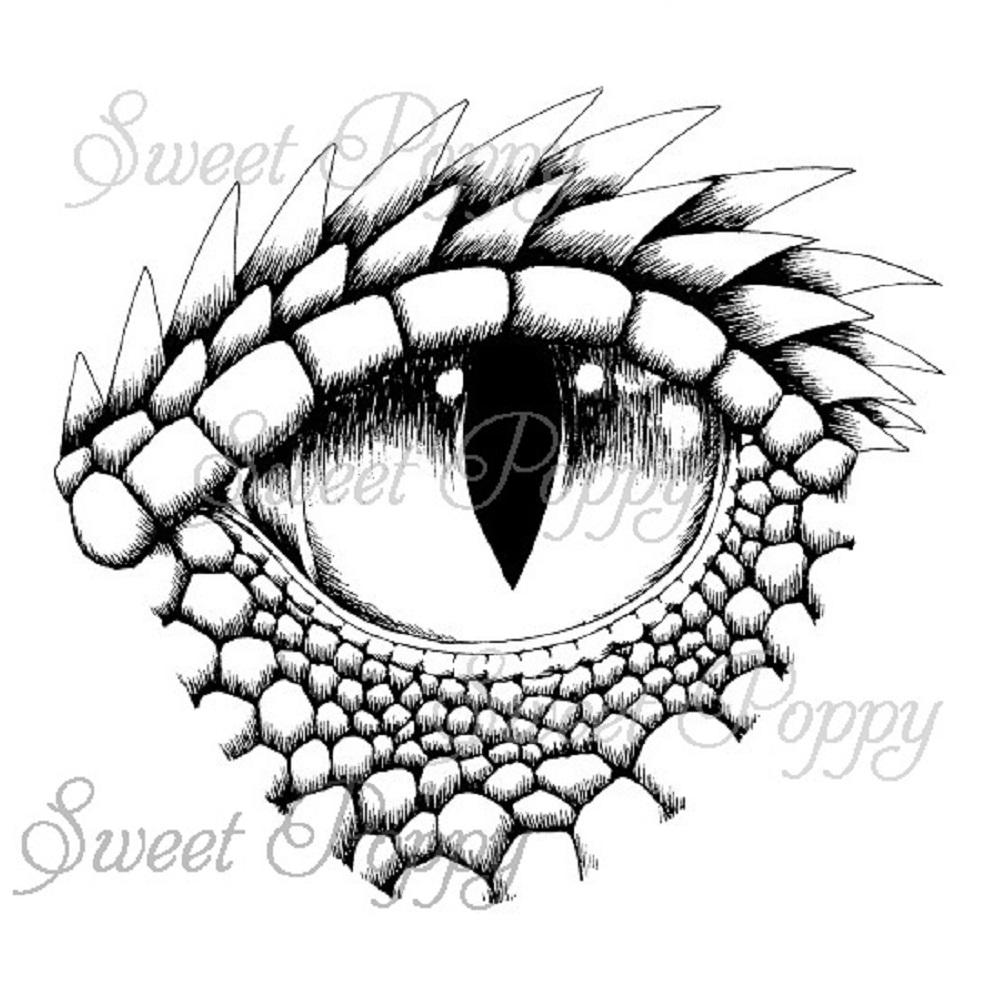 Sweet Poppy Stencil: A6 Stamp Large Dragon Eye