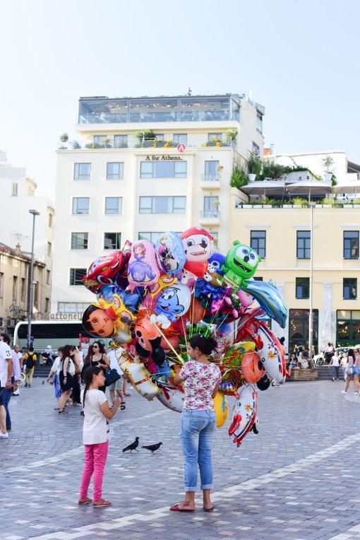 Athens city Balloon seller