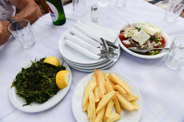 Greek lunch Porto Rafti