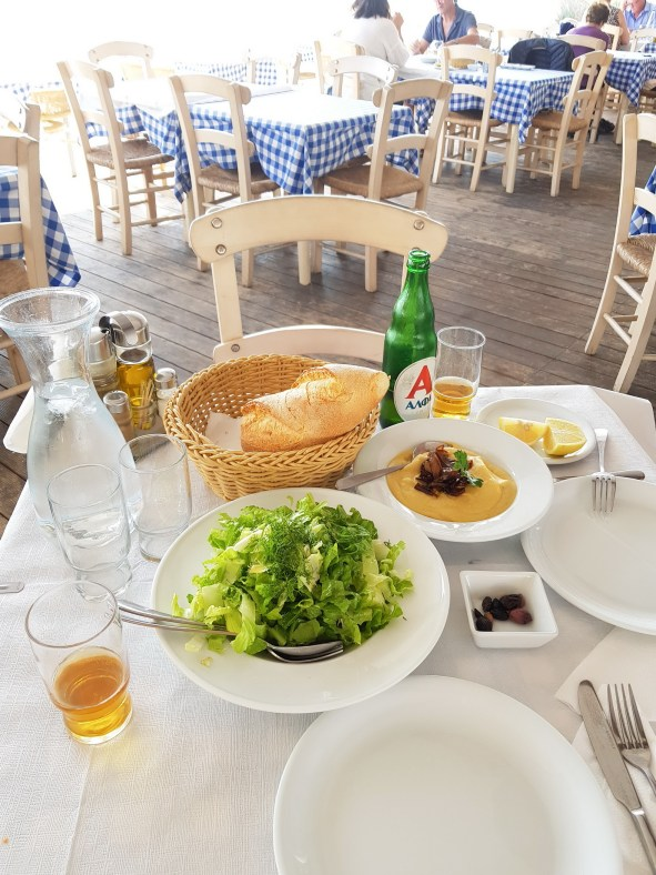 Greek food marathon beach