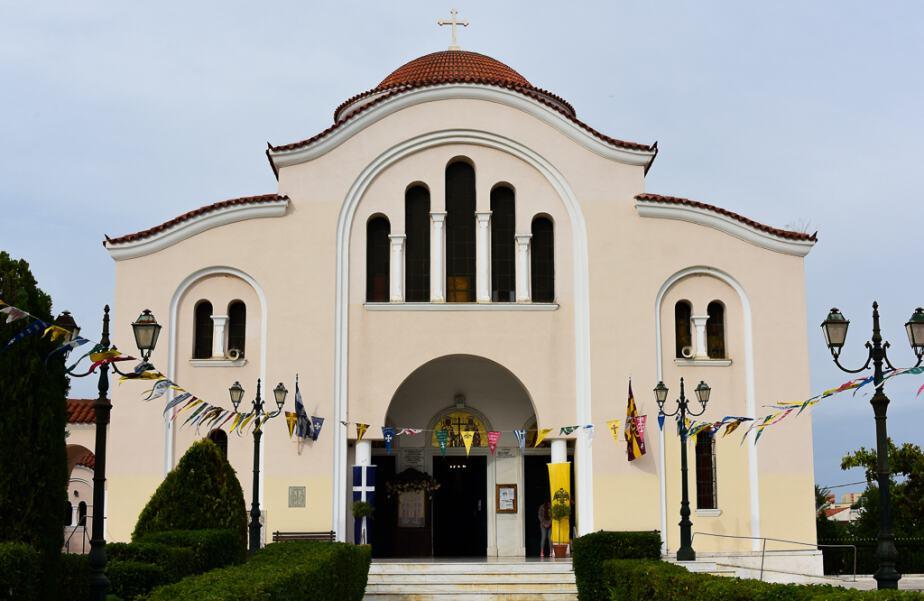 Ag Constantinos church in Nea makri Greece