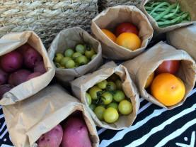 Farm stand produce
