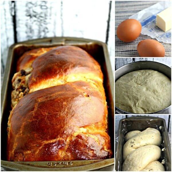 Poppy Seed and Walnut Roll Bread