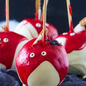 Bloody Chocolate Dipped Apples