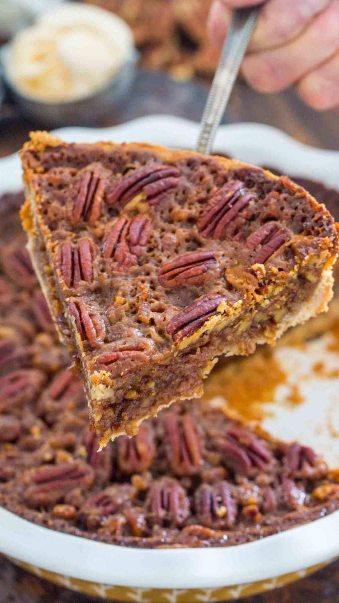 Homemade Pecan Pie Slice