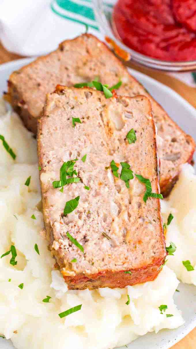 Turkey Meatloaf Slice
