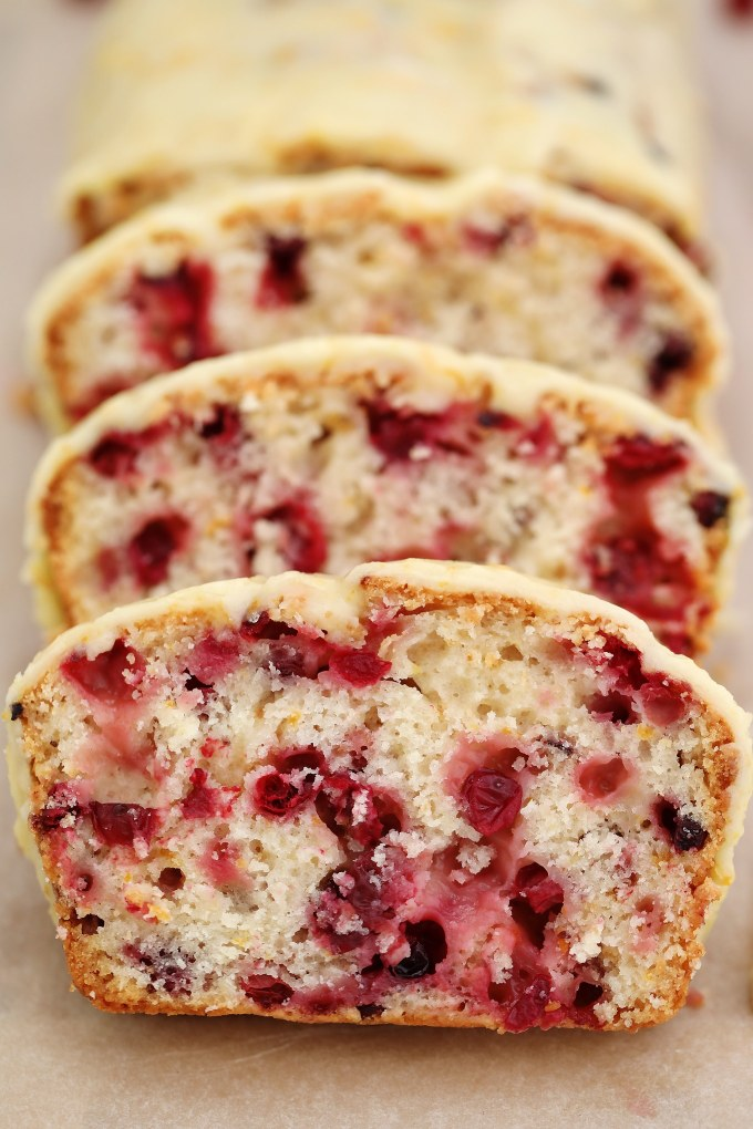 Cranberry Orange Bread is the perfect breakfast pastry for the holidays! Add it to your menu for the holidays for a festive spread your guests will love! #cranberries #orange #falldesserts #thanksgiving #sweetandsavorymeals