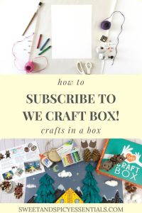 We Craft Box. Creating projects for kids in a monthly subscription box.