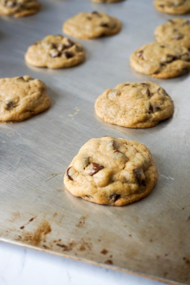 The best chocolate chip cookie recipe. Soft, chewy, and made with a secret ingredient.