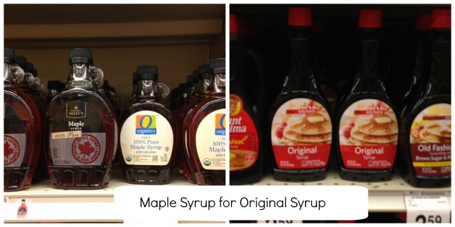 Food Swaps Syrup