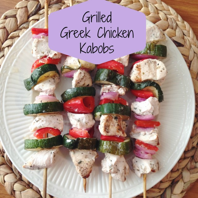 Perfect tender chicken every time with a secret ingredient in these Grilled Greek Chicken Kabobs.