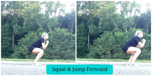 5 Squat Variations you need to try, Squat & Jump Forward