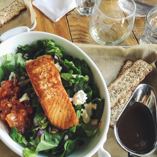Weekend Recap, Salmon Salad from the Knotty Pine