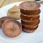 Chocolate Almond Butter Caramel Protein Fudge Bites