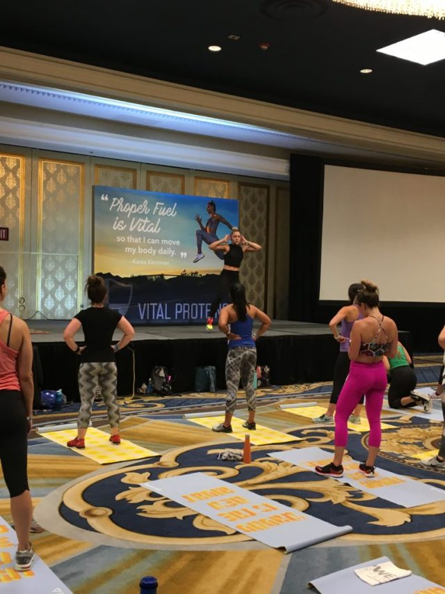 IDEA World Blogfest, Vital Proteins Workout