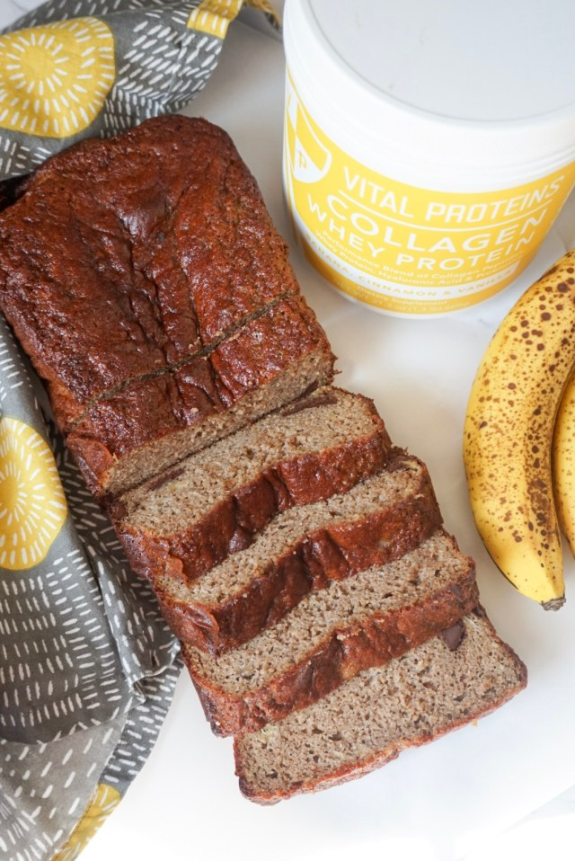 Banana Bread with Vital Proteins Collagen Whey