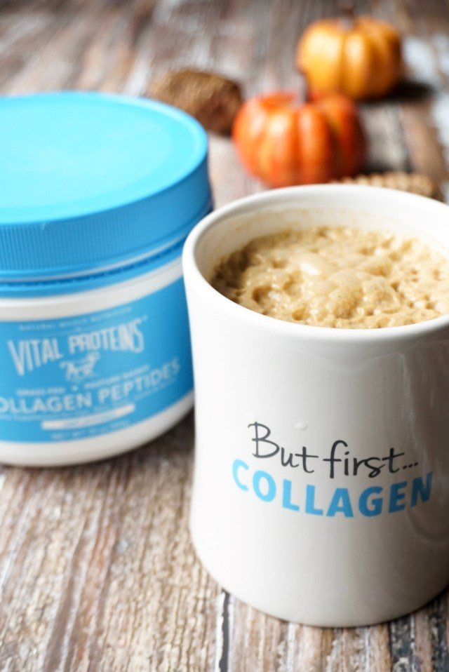 Vital Proteins Collagen Peptides in Homemade Pumpkin Spice Latte