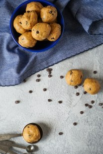 LRG DSC03228 - Healthy Chocolate Chip Cookie Dough Bites (Vegan, Paleo, Gluten-Free)